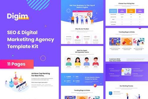 ThemeForest - Digim v1.0 - SEO & Digital Marketing Template Kit (Update: 25 August 20) - 28115741