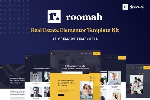 ThemeForest - Roomah v1.0 - Real Estate Agent Elementor Template Kit - 27817667