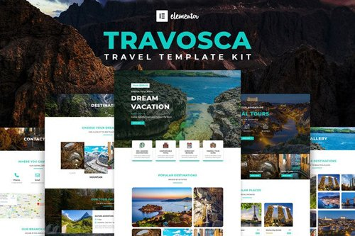 ThemeForest - Travosca v1.0 - Travel Elementor Template Kit - 27792269