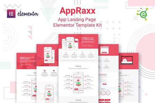 ThemeForest - AppRaxx v1.0 - App Landing Page Elementor Template Kit - 28030662