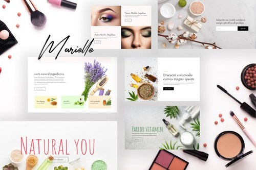 ThemeForest - Marielle v1.0 - Cosmetics and Beauty Shop Template Kits - 28140580
