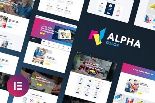 ThemeForest - AlphaColor v1.0 - Design & Printing Elementor Template Kit - 28166682