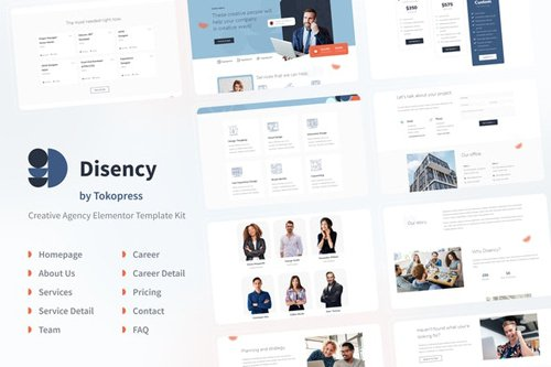 ThemeForest - Disency v1.0 - Agency Elementor Template Kit - 28207128