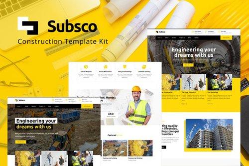 ThemeForest - Subsco v1.0 - Construction Elementor Template Kit - 28206999