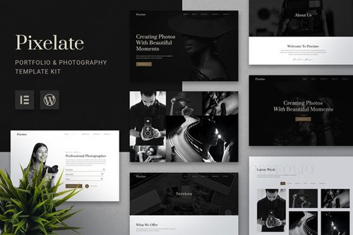 ThemeForest - Pixelate v1.0 - Portfolio & Photography Elementor Template Kit - 28276334