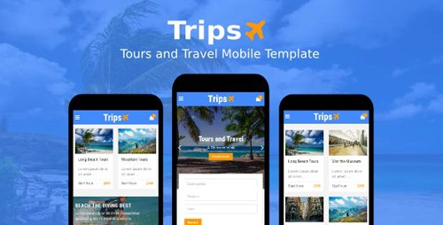 ThemeForest - Trips v1.0 - Tours and Travel Mobile Template - 19474228