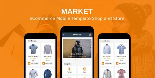 ThemeForest - Market v1.0 - eCommerce Mobile Template Shop and Store - 19898645
