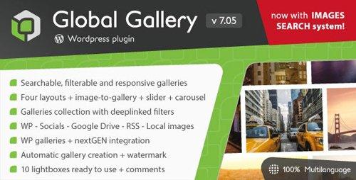 CodeCanyon - Global Gallery v7.052 - Wordpress Responsive Gallery - 3310108
