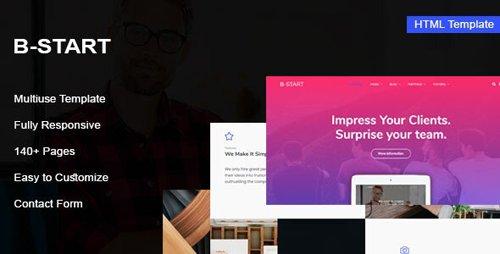 ThemeForest - B-Start v1.0 - Startup HTML Template - 27819105