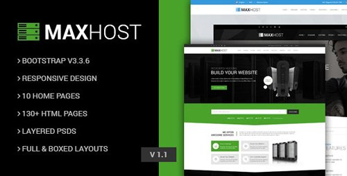 ThemeForest - MaxHot v1.1 - Professional Web Hosting Responsive HTML5 Template - 15041725