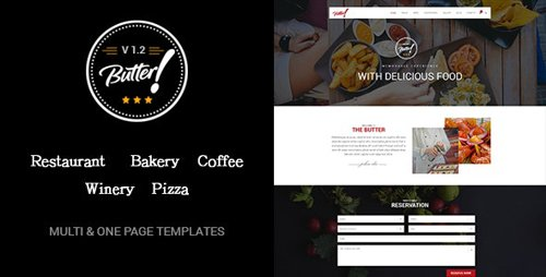 ThemeForest - Butter v1.2 - Professional Restaurant, Bakery, Coffee, Winery and Pizza HTML Layouts - 15798447