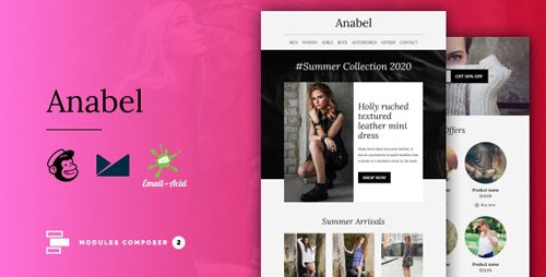 ThemeForest - Anabel v1.0 - E-commerce Responsive Email for Fashion & Accessories with Online Builder - 27936158