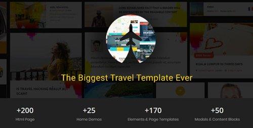 ThemeForest - Travelz v1.0 - Travel, Tour Booking , Hotel , Mega HTML5 Template - 21155210