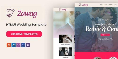 ThemeForest - Zawag v1.0 - Responsive HTML5 Wedding Template - 23182525
