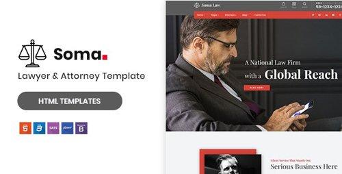 ThemeForest - Soma v1.0 - Lawyer & Attorney HTML5 Template - 23331785