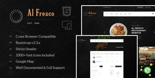 ThemeForest - Al Fresco v1.0 - An eCommerce Restaurant Responsive HTML Template - 18641296
