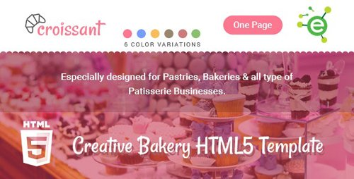 ThemeForest - Croissant v1.1 - Creative Bakery and Pastry Business One Page HTML5 Template - 19450837