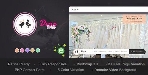 ThemeForest - Dear Bride v1.1 - One Page Wedding Salon HTML Template - 19288559