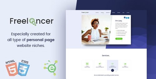 ThemeForest - Freelancer v1.2 - Creative Business & Portfolio Personal Page HTML5 Template - 19663348