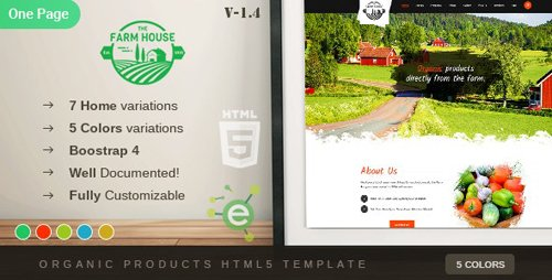 ThemeForest - The Farm House v1.4 - One Page Organic Food, Fruit and Vegetables Products HTML5 Template - 19579504