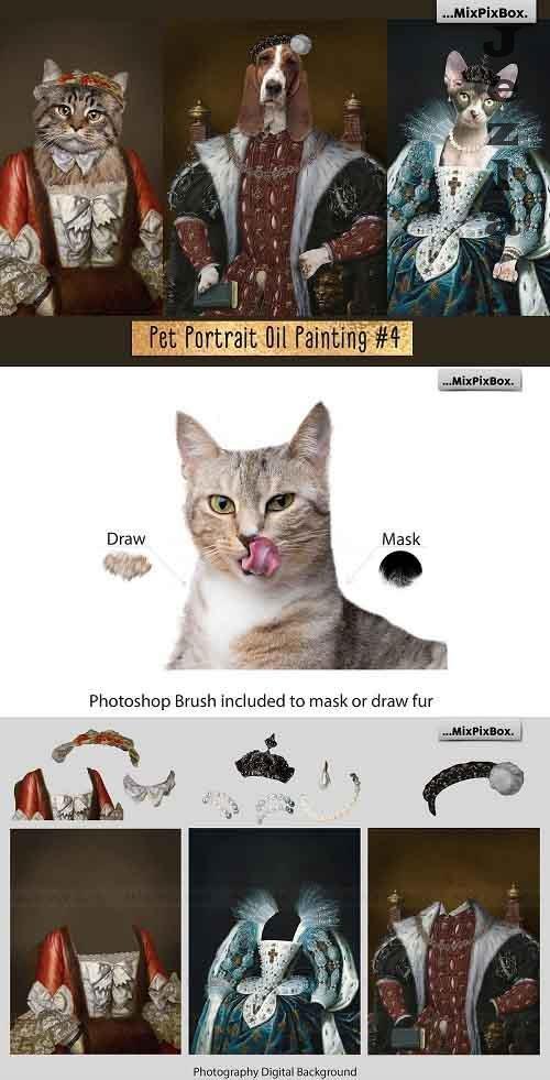 Pet Portrait Oil Background v.4 - 5261584
