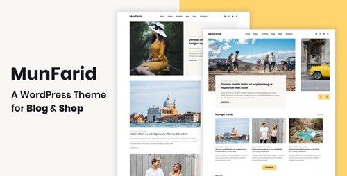 ThemeForest - Munfarid v1.0.4 - A WordPress Theme For Blog & Shop - 23149018