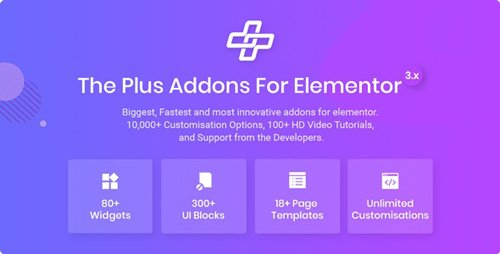CodeCanyon - The Plus v4.0.0 - Addon for Elementor Page Builder WordPress Plugin - 22831875 - NULLED