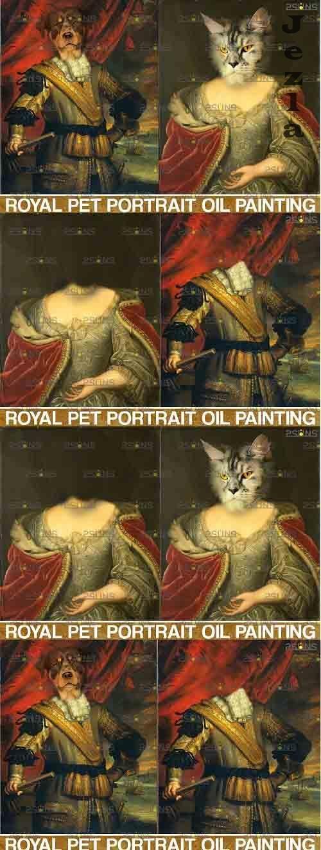 Royal Pet Portrait templates vol.10, Pet Painting - 839405