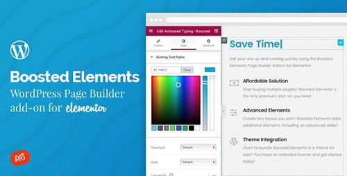 CodeCanyon - Boosted Elements v4.0 - WordPress Page Builder Add-on for Elementor - 20225210