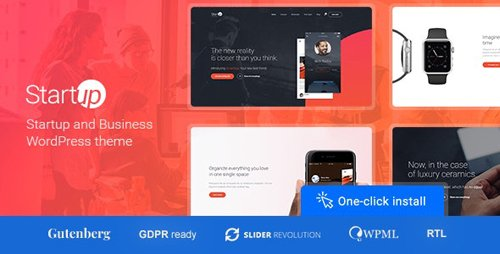ThemeForest - Startup Company v1.1.0 - WordPress Theme for Business & Technology - 19843048