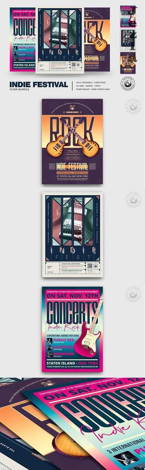 Indie Fest Flyer Bundle - 5332337