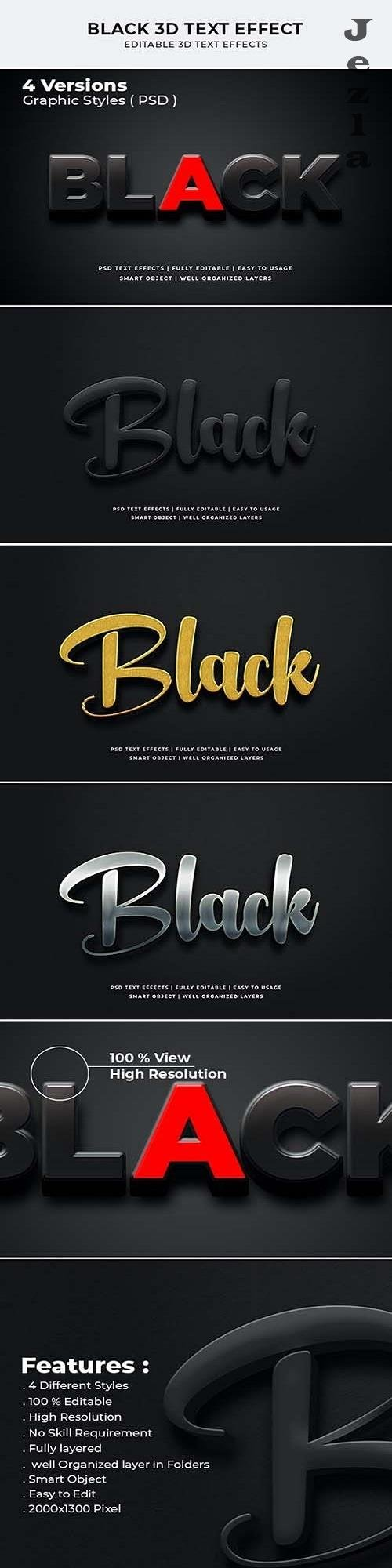 Black 3d Text Effect 27670438
