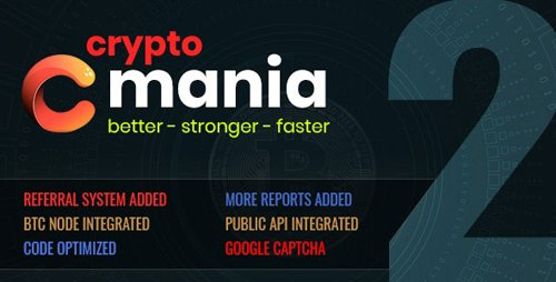 CodeCanyon - Cryptomania Exchange Pro v2.0.4 - cryptocurrency trade - 23036775