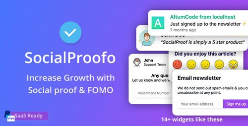 CodeCanyon - SocialProofo v1.8.1 - 14+ Social Proof & FOMO Notifications for Growth (SaaS Ready) - 24033812 - NULLED
