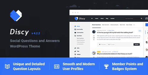 ThemeForest - Discy v4.2.2 - Social Questions and Answers WordPress Theme - 19281265 - NULLED