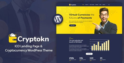 ThemeForest - Cryptokn v1.2 - ICO Landing Page & Cryptocurrency WordPress Theme - 21192657