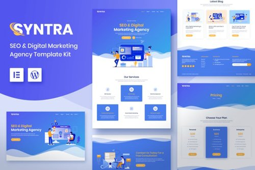 ThemeForest - SYNTRA v1.0 - SEO & Digital Marketing Agency Template Kit (Update: 28 August 20) - 28052211