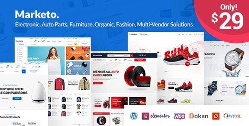 ThemeForest - Marketo v2.5 - eCommerce & Multivendor Marketplace Woocommerce WordPress Theme - 22310459