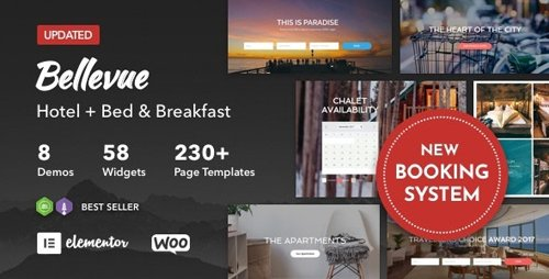 ThemeForest - Hotel + Bed and Breakfast Booking Calendar Theme | Bellevue v3.2.10 - 12482898