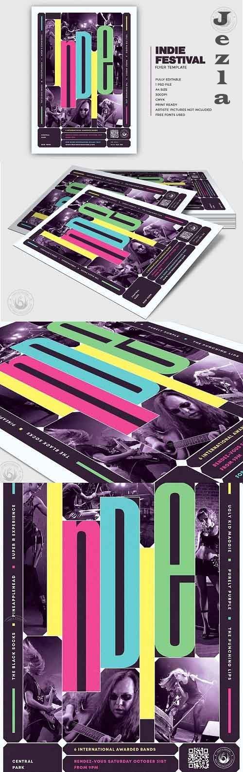 Indie Fest Flyer Template V10 - 5340976