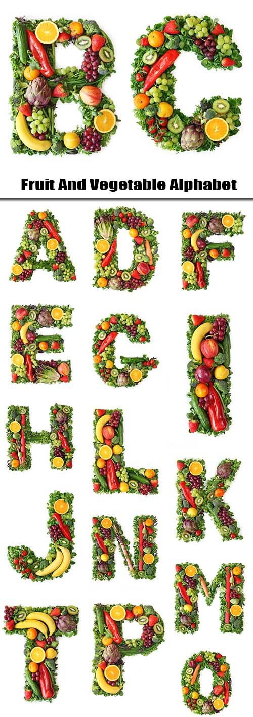 Fruit And Vegetable Alphabet - 27xTIFF