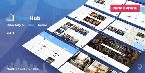 ThemeForest - TownHub v1.3.7 - Directory & Listing WordPress Theme - 25019571