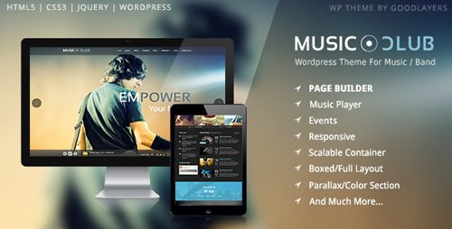 ThemeForest - Music Club v1.8.2 - Band | Party Wordpress - 7017803