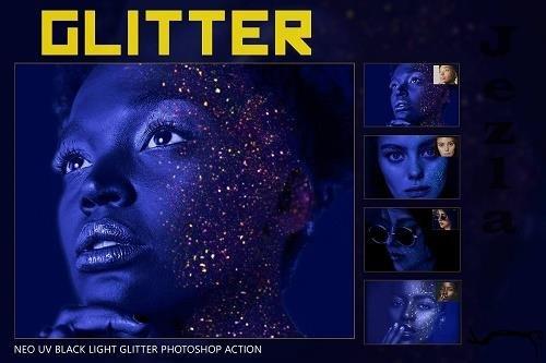 Neo UV Black Light Glitter Photoshop - 5054406