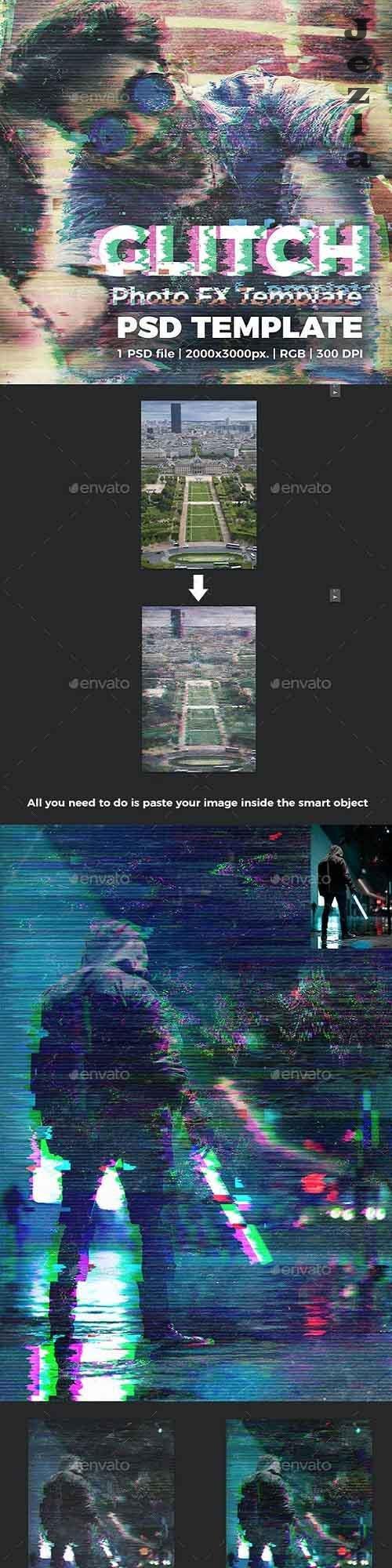 Glitch Photo FX Template 27055358