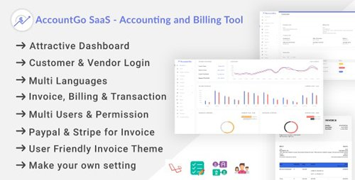 CodeCanyon - AccountGo SaaS v1.0 - Accounting and Billing Tool (Update: 15 May 20) - 25733019 - NULLED