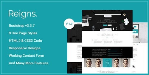 ThemeForest - Reigns v1.0 - Professional One Page HTML5 Templates - 18591829