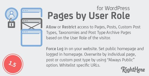 CodeCanyon - Pages by User Role for WordPress v1.5.0.97742 - 136020