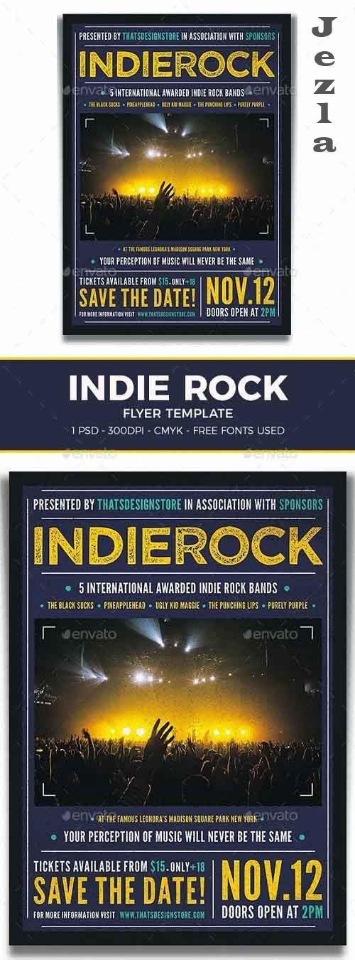 Indie Rock Flyer Template V1 - 19130024 - 1095668