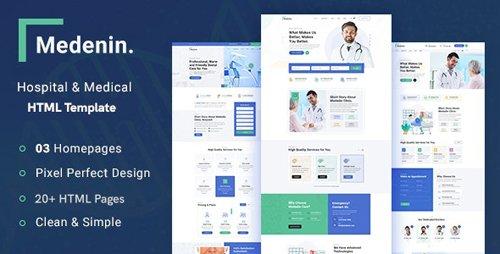 ThemeForest - Medenin v1.0 - Medical & Health Website Template - 28360174